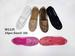 Closeout Women Breathable Flat SHOES with Lace and Diamond Black