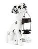 15'' Dalmation Garden Statue with Solar Lantern for CHRISTMAS Gift