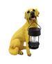 15'' Yellow Labrador Garden Statue & Solar Lantern for Christmas