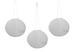 A Pack of Three 12'' Diameter Fabric Shoji Solar Lanterns