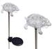 A pack of Two Turtle Solar Garden Solar Lights