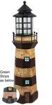 39'' Tall Lighthouse Turquoise Stripe Solar Garden Statue Light