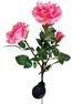 Fabric Pink Roses Solar Garden Lights