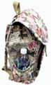 NEW Women's Large 16'' Canvas Backpack Drawstring Closure 3 Pocket