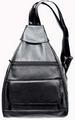 Soft LEATHER Large Stylish Backpack/Sling Purse Two in One Design