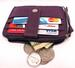 New genuine LEATHER coin purse with credit card holder ID window