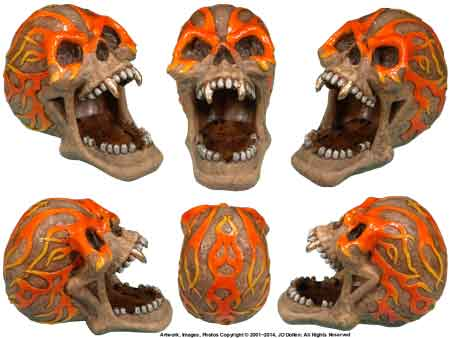 Flaming Skull: Open Mouth Ashtray / CANDY-Coin Dish