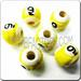 Medium JEWELRY Ceramic Sport Bead - 9 Ball