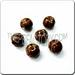 Small Rosary Ceramic Sport Bead - BASKETBALL