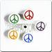 Ceramic medium disc shaped bead - Peace SIGN