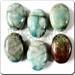 Raku glazed JEWELRY pendant - Oval