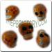 Ceramic JEWELRY skull shaped bead with Day of the Dead art