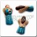 Ceramic JEWELRY multi colored shaped bead - Blue Angel