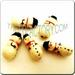 Ceramic JEWELRY multi colored shaped bead - Snowman