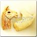 01- Ceramic jewelry animal PENDANT - Beige Lama