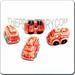 Ceramic JEWELRY shaped bead - Fire Truck