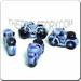 Ceramic JEWELRY shaped bead - Blue Motorcycle
