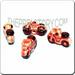 Ceramic JEWELRY shaped bead - Red Motorcycle