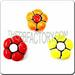 Ceramic JEWELRY shaped bead - Colored Flowers