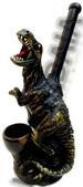 Dark T-Rex FIGURINE resin smoking pipe