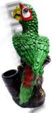 Green Parrot FIGURINE resin smoking pipe