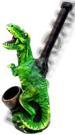 Green T-Rex FIGURINE resin smoking pipe