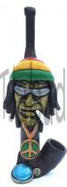 Rasta man with Sun Glasses shaped resin pipe