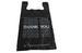 1/8 Black Warning Medium  Plastic Shopping Bags