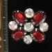 GARNET FLOWER PIN