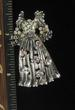 ANTIQUE SILVERTONE FASHION  DRESS PIN