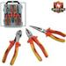 3pc Insulated PLIERS Set Contractor's Grade 1000 Volt