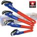 3pc Self-Adjusting & Quick Release PIPE Wrench Set