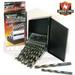 Industrial USA Index 29pc Left Hand Drill Bit Set (Black/GOLD Fin
