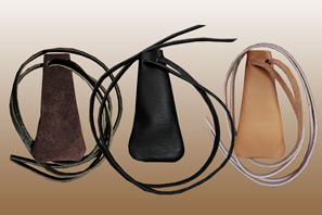 LEATHER Medicine Pouch Necklace