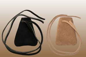 Wide Medicine Leather Pouch NECKLACE