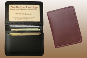 LEATHER ID and Card Case