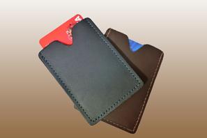 LEATHER Credit Card Sheath