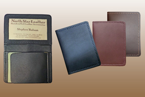 Leather Moneyclip wallet with Window Seconds