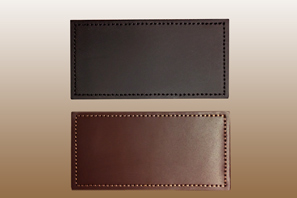 2'' x 4'' Leather Name Badge with Velcro (hook)