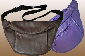 Large Leather Fanny Pack