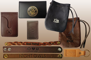 LEATHER Promotional items with your LOGO