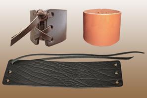 LEATHER Lace Cuff Bracelet 2''