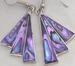 Purple Abalone FAN Drop Earring