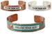 Wholesale Assortment of ''Follow Your Bliss'' Small Cuff BANGLEs