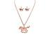 Wholesale Rose GOLD 18'' Horse Charm Necklace & Earrings Set