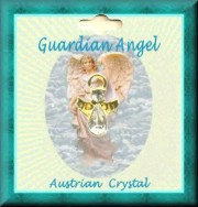 Guardian ANGEL PIN With 2 Austrian Crystal Stones