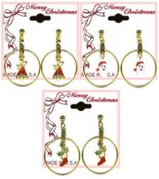 Christmas Eternity Pierced EARRING Assortment