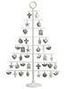 30.7'' Metal CHRISTMAS Tree w/Ornament White White (BULK)