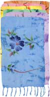 Hand-Painted FLOWERS on Pastel Background Sarongs