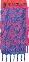 Batik FLOWER Sarong with Pink FLOWERS